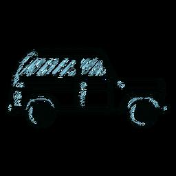Jeep vehículo carrocería rueda línea