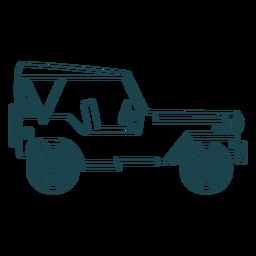 Curso de roda de corpo de carro de veículo jipe