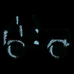 Línea de carrocería de rueda de vehículo Jeep