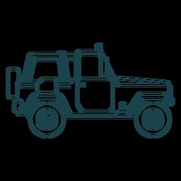 Jeep vehículo coche rueda cuerpo trazo