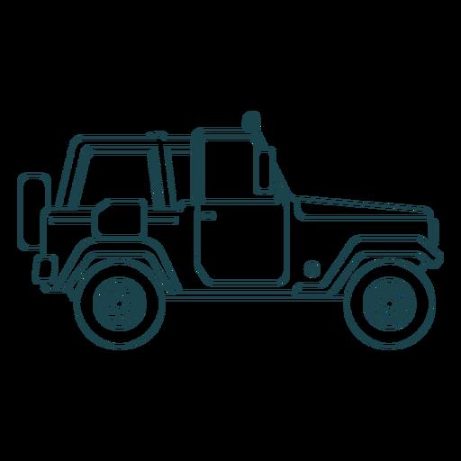 Jeep vehículo coche rueda cuerpo trazo Transparent PNG