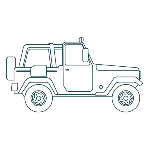 Jeep vehicle car wheel body stroke Transparent PNG