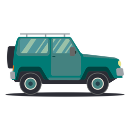 Jeep vehículo rueda carrocería plana