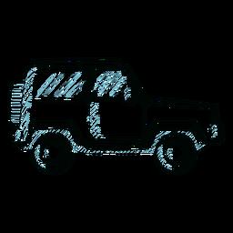 Jeep veículo roda carroçaria linha