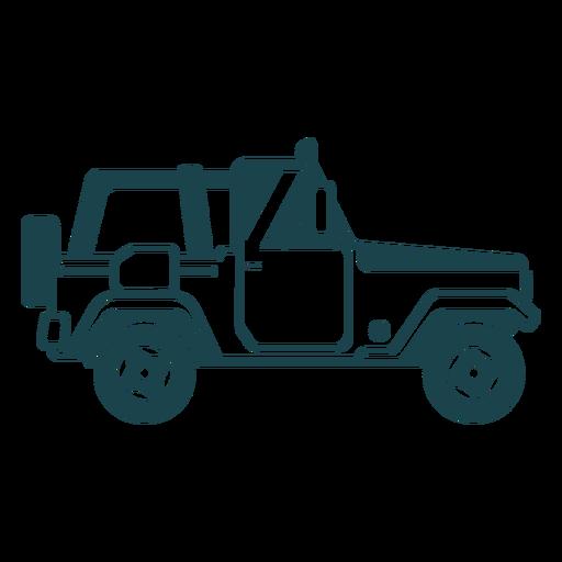 Jeep rueda vehículo carrocería coche silueta detallada Transparent PNG