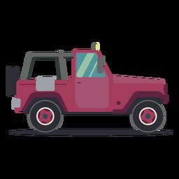 Carroçaria de veículo com roda de jipe plana