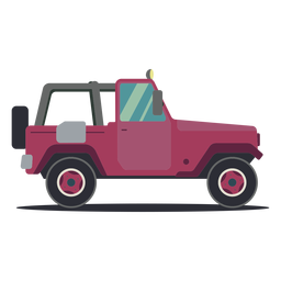 Jeep roda veículo carroçaria plana