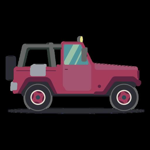 Jeep wheel vehicle car body flat