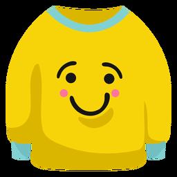 Jumper pullover smile flat