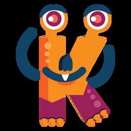 K k letter monster flat