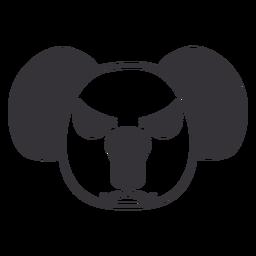 Curso de focinho de cabeça com raiva de coala