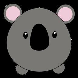 Koala cute puffy muzzle flat