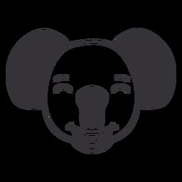 Golpe de hocico de cabeza feliz Koala
