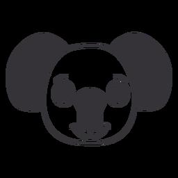 Golpe de hocico alegre cabeza de koala