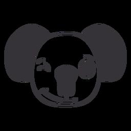 Golpe de hocico de cabeza de guiño de koala