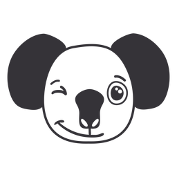 Koala wink head muzzle stroke