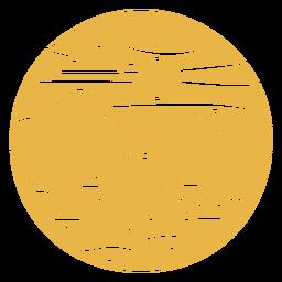 Insignia del paisaje de la colina del abeto