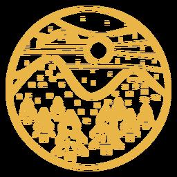 Landscape fir hill stroke badge
