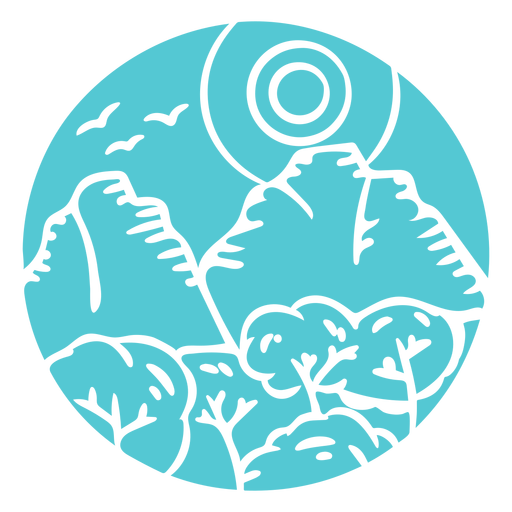Insignia de madera del bosque de montaña del paisaje Transparent PNG