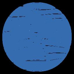 Emblema de iglu de montanha de paisagem