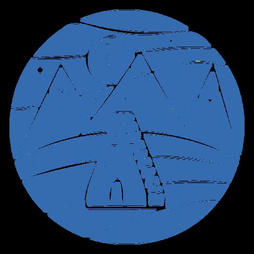 Insignia de iglú de montaña de paisaje Transparent PNG