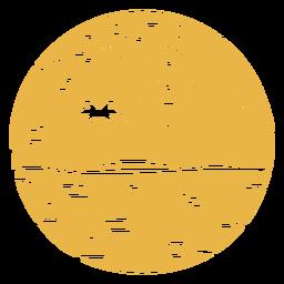 Distintivo de palmeira de montanha paisagem
