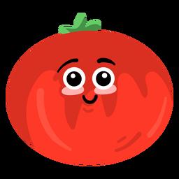 Leaf tomato flat