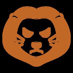 Cabeza de león enojado hocico plano