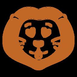 Hocico cabeza de león enamorado plano
