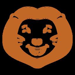 Lion happy head muzzle flat