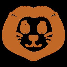 Lion joyful head muzzle flat