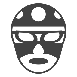 Luchador circle mask detailed silhouette