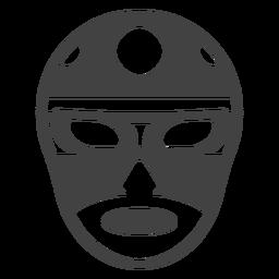 Luchador círculo máscara detalhada silhueta