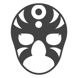 Luchador circle mask silhouette detailed