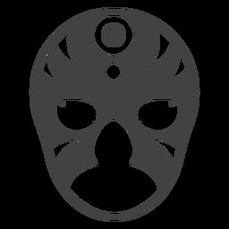 Luchador Kreismaskenschattenbild einzeln aufgeführt