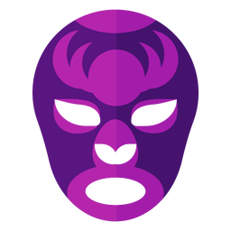 Luchador circle stripe mask flat