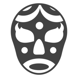 Luchador crescent mask detailed silhouette