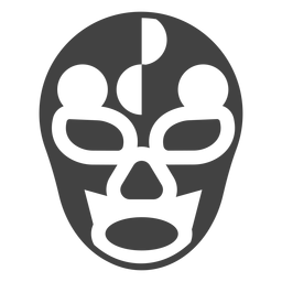 Luchador mask circle detailed silhouette