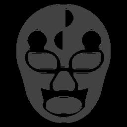 Silhueta detalhada do círculo de máscara Luchador