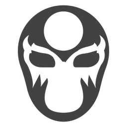 Luchador mask circle silhouette detailed