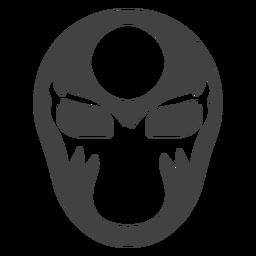 Luchador Maskenkreisschattenbild einzeln aufgeführt