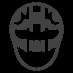Luchador máscara círculo listra detalhada silhueta