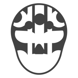 Luchador mask circle stripe detailed silhouette