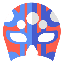 Luchador máscara círculo listra plana