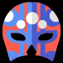 Luchador mask circle stripe flat
