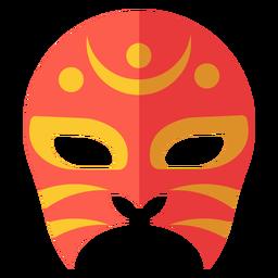 Luchador máscara media luna círculo plano