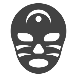 Luchador mask crescent detailed silhouette