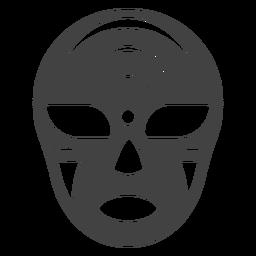 Halbmondschattenbild Luchador-Maske einzeln aufgeführt