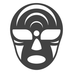 Luchador mask crescent silhouette detailed