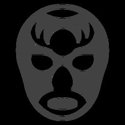 Luchador máscara detalhada silhueta de chifre